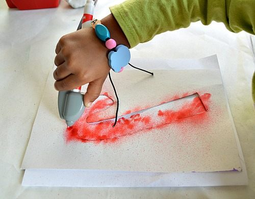 candy cane crafts with airbrush