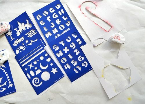 christmas cards stencils