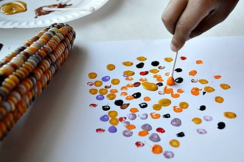 Thanksgiving Crafts For Kids Fine Motor Corn Art Fun Littles