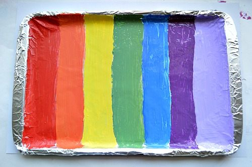 rainbow tray