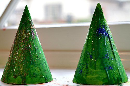 sparkly christmas crafts as hats