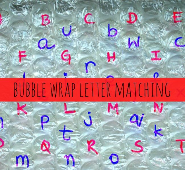 alphabet activities for kids bubble wrap