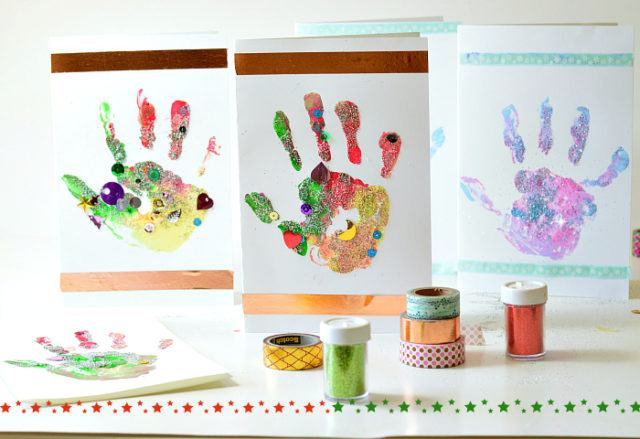 christmas crafts cards kids can make