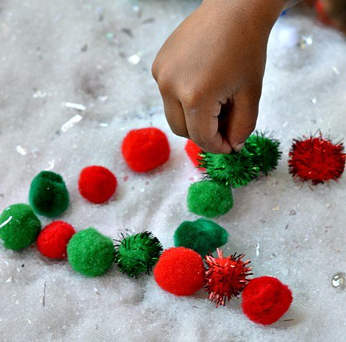 fine motor activities with pom poms