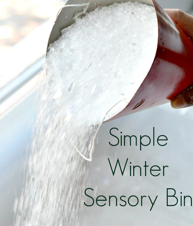 sensory bins for winter season