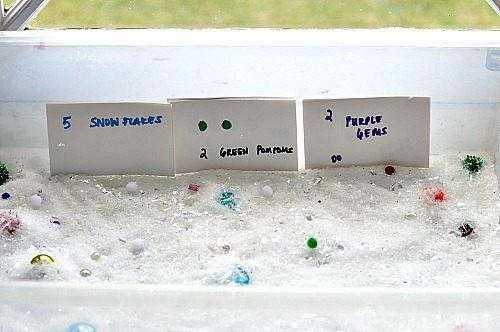 sensory tub set up