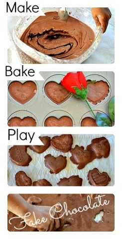 Fake Chocolate Sensory Play from Blog Me Mom