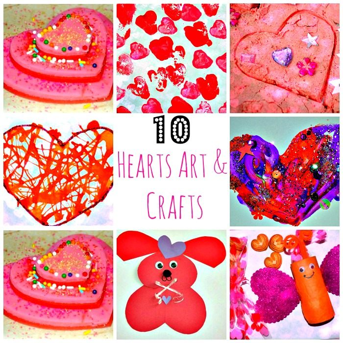 Valentines day arts and crafts activities