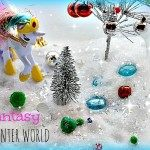 fake snow small world for kids
