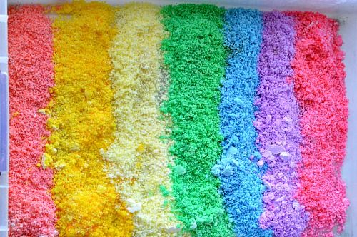 homemade rainbow snow