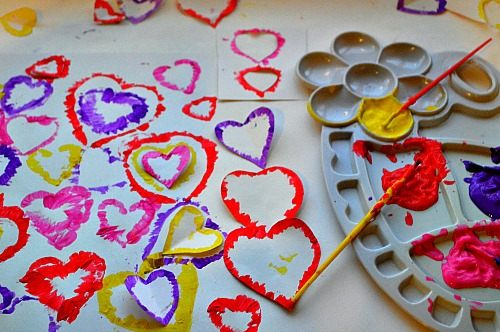 kids art projects for valentines day