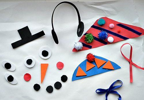 materials for snowman play