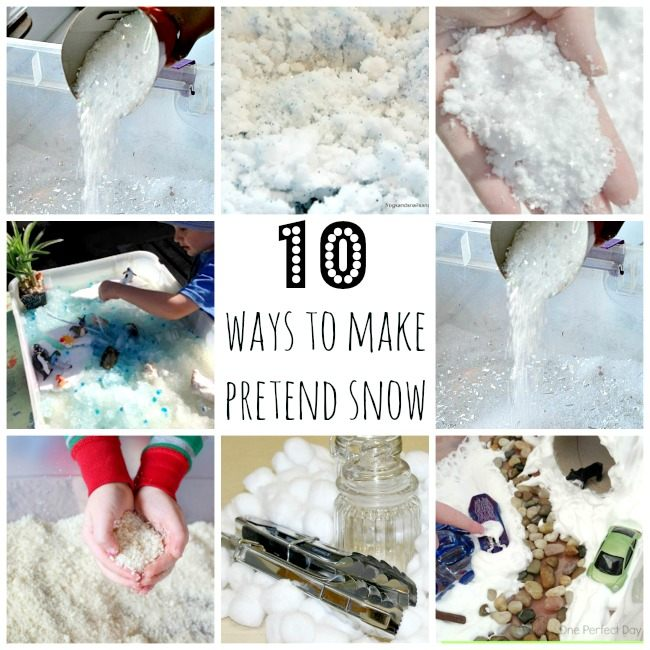 pretend snow recipes