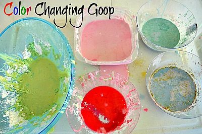 sensory activities with oobleck fb