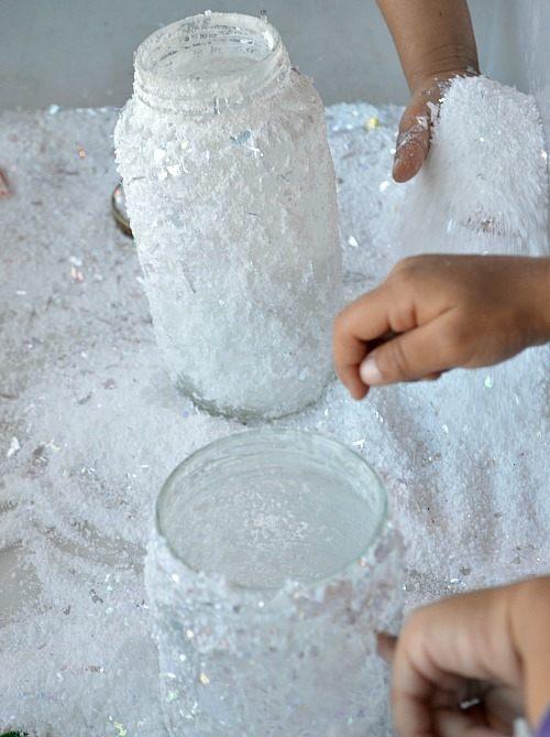 snowfun for kids pouring snow