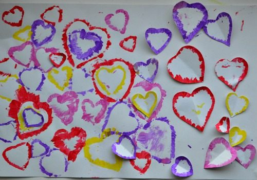 valentines day art projects with hearts