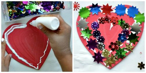 valentins day activities with collage making