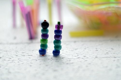 Beads and fine motor play