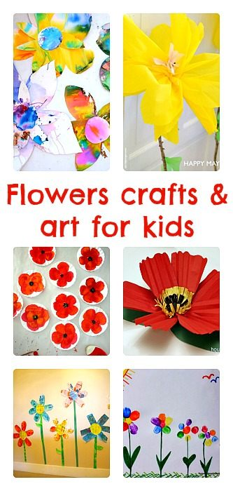 Flower Crafts And Art For Kids Fun Littles