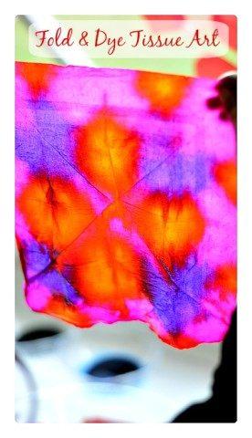 Fold and Dye Art Project