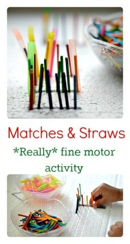 Matches Fine Motor Activity for kids from Blog Me Mom