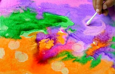 Art Activities For Kids Texture On Watercolor Projects Fun Littles