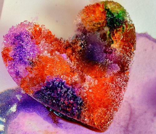 beautful crystal heart