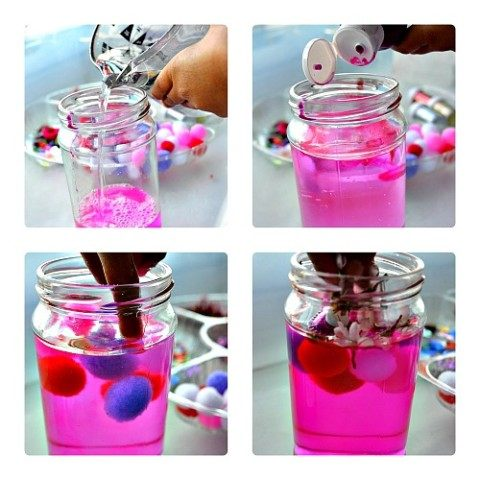 creating sensory jars for valentine's day