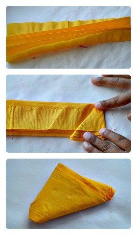 making tissue traingles