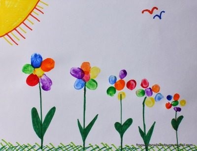 Flower Crafts And Art For Kids Fun Littles