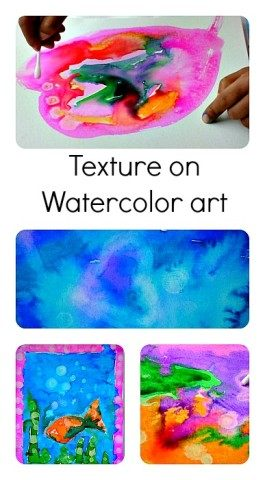 Texture on Watercolor Projects: Fun Process Art