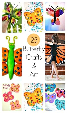 Butterfly crafts for kids from Blog Me Mom