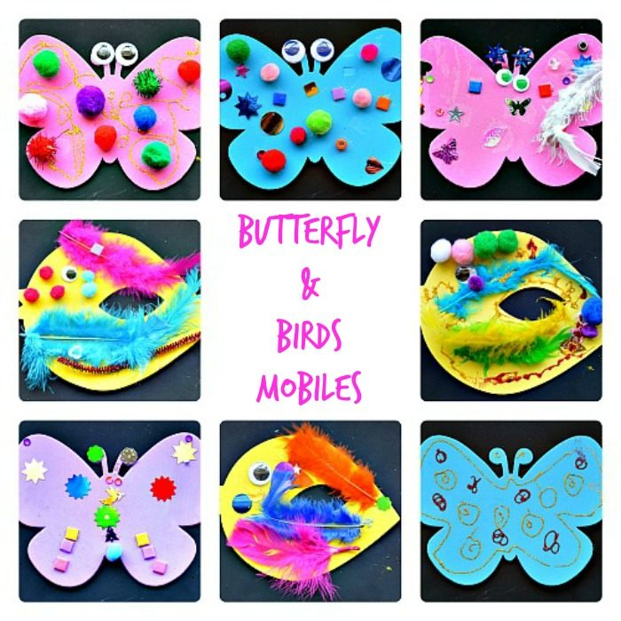 Butterfly mobilesfine motor activities for spring