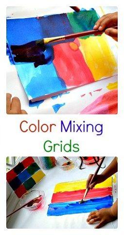 Color Mixing Grids Art   Blog Me Mom
