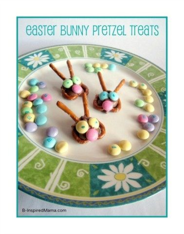 Easter Bunny Pretzel Treats