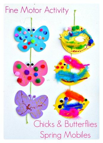 Spring Themed mobiles - fine motor activity
