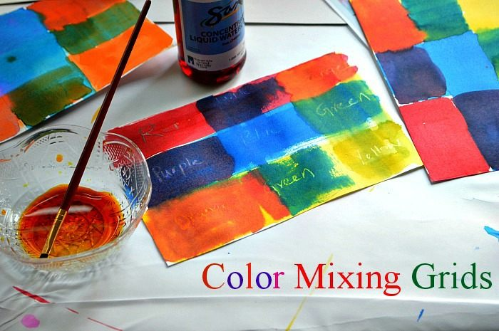 art activities with color mixing