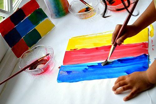 art projects teaching colors