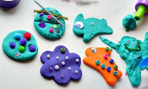 creatures with homemade playdough