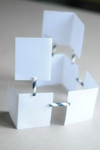 building activities for kids with straws
