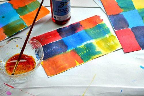 kids art activities color