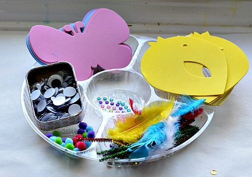 materials for spring crafts for kids