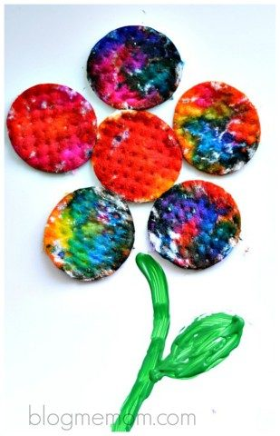 spring art with flowers