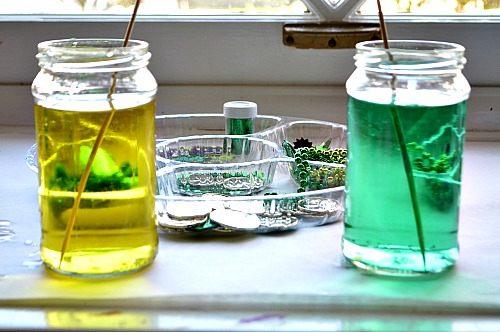 st patricks day crafts sensory activities with jars