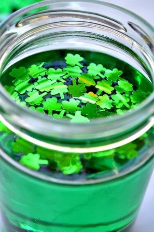 st patricks day sensory activities for kids with green water