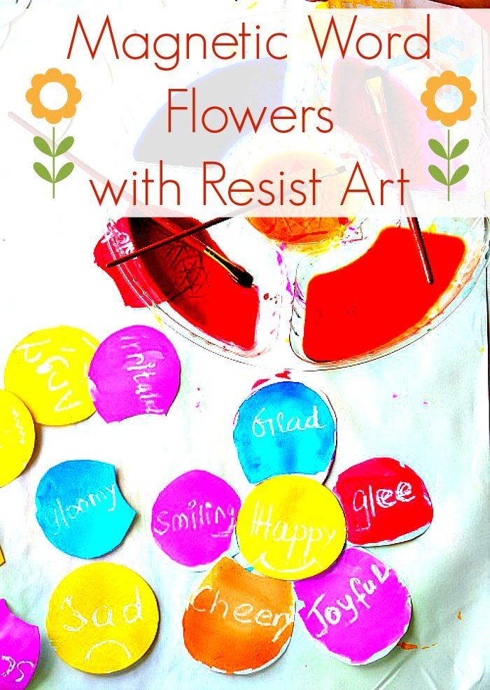 word emotions spring crafts for kids