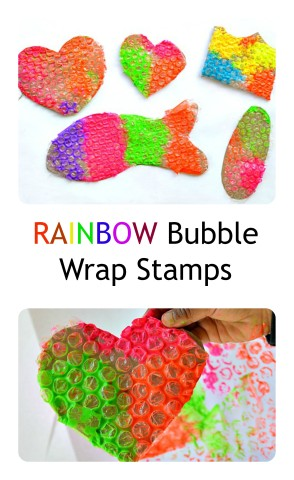 Kids Art Bubble Stamps from Blog Me Mom