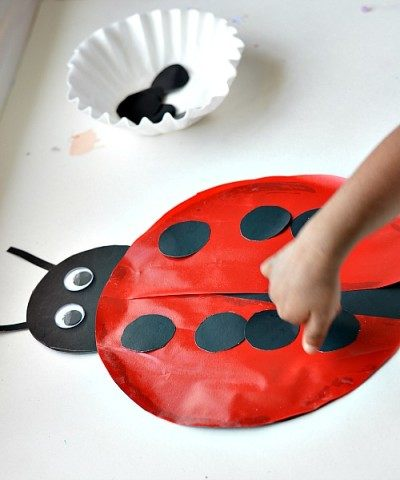 fine motor activities with lady bug theme