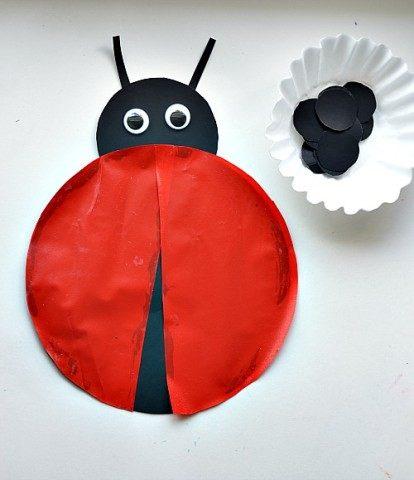 ladybug craft activities with sticky bug