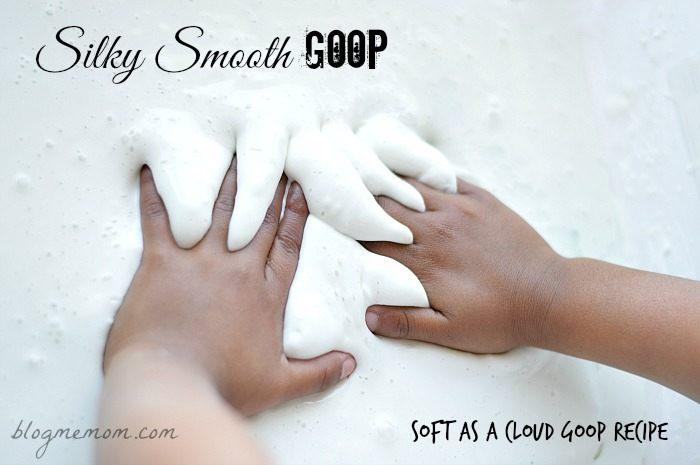 sensory activities for kids smooth goop